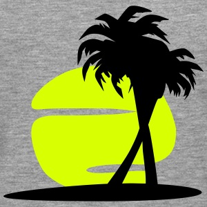 Sund and palm tree (super cheap!) Manches longues - T-shirt manches longues Premium Homme