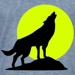 Wolf and full moon (super cheap!) Tee shirts - T-shirt vintage Homme
