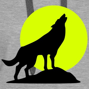 Wolf and full moon (super cheap!) Sudaderas - Sudadera con capucha premium para mujer