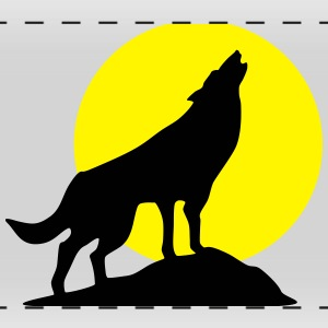 Wolf and full moon (super cheap!) Bouteilles et Tasses - Tasse panorama