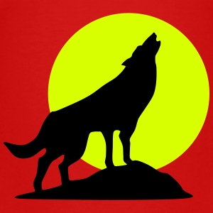 Wolf and full moon (super cheap!) Camisetas - Camiseta premium niño