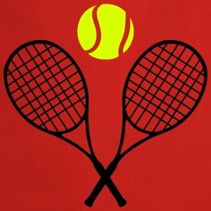 Tennis racket and ball (cheap!) 2 colors Grembiuli - Grembiule da cucina