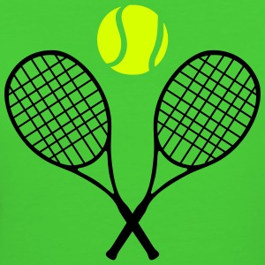 Tennis racket and ball (cheap!) 2 colors Camisetas - Camiseta ecológica mujer