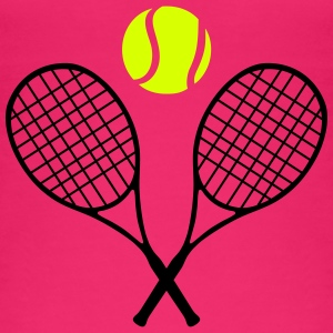 Tennis racket and ball (cheap!) 2 colors Topy - Ekologiczny top damski