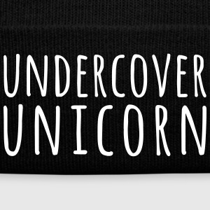 Undercover Unicorn Funny Quote Caps & Hats - Winter Hat