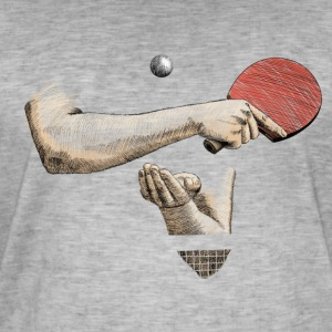 Ping-pong T-shirts - Mannen Vintage T-shirt