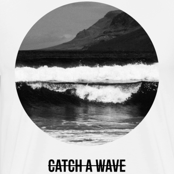 catch a wave T-shirts - Herre premium T-shirt