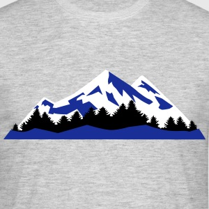 Mountain, Winter Landscape (super cheap) T-skjorter - T-skjorte for menn