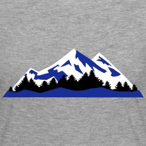 Mountain, Winter Landscape (super cheap) Skjorter med lange armer - Premium langermet T-skjorte for kvinner