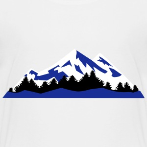 Mountain, Winter Landscape (super cheap) T-shirts - Teenager premium T-shirt