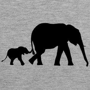 Elephant and baby elephant (super cheap!) Sportkleding - Mannen Premium tank top