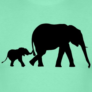 Elephant and baby elephant (super cheap!) Magliette - Maglietta da uomo
