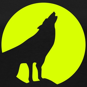 Wolf, Moon (super günstig!) Long Sleeve Shirts - Women's Premium Longsleeve Shirt
