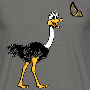 Strauss emu cute butterfly T-Shirts - Men's T-Shirt