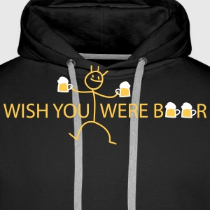 wish you were Sweatshirts - Herre Premium hættetrøje