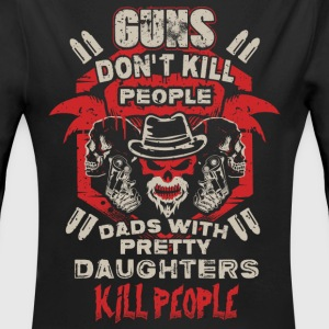 DAD - PRETTY DAUGHTER - GUN - EN Baby Bodysuits - Longlseeve Baby Bodysuit