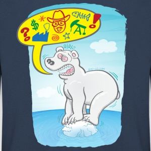 Polar bear saying bad words Long Sleeve Shirts - Kids' Premium Longsleeve Shirt
