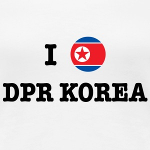I Love North Korea (DPR Korea) T-Shirts - Frauen Premium T-Shirt