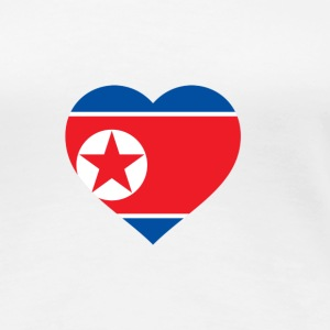 I Love North Korea (DPR Korea) T-shirts - Dame premium T-shirt