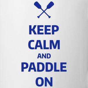 keep calm and paddle on Wassersport Kanu Kajak  Muggar & tillbehör - Mugg