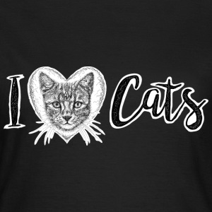 I Love Cats T-Shirt - Women's - Women's T-Shirt