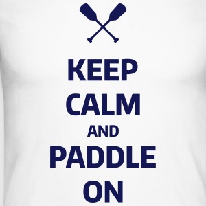 keep calm and paddle on Wassersport Kanu Kajak Manches longues - T-shirt baseball manches longues Homme