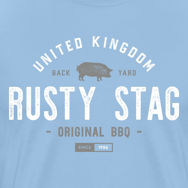 Rusty Stag BBQ Tee W/G