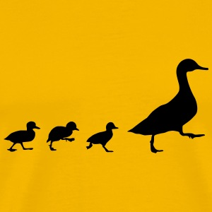 Duck and 3 chicks (super cheap!) T-Shirts - Men's Premium T-Shirt