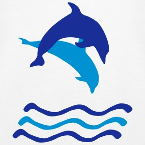 Dolphins and Waves, Dolphin (super cheap!) Topy - Tank top damski Premium