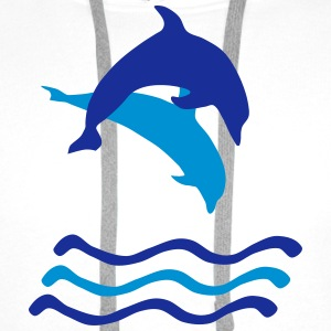 Dolphins and Waves, Dolphin (super cheap!) Hoodies & Sweatshirts - Men's Premium Hoodie
