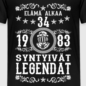 1983 - 34 vuotta - Legendat - 2017 - FI T-shirts - Teenager premium T-shirt
