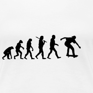 Evolution Skateboard T-Shirts - Frauen Premium T-Shirt