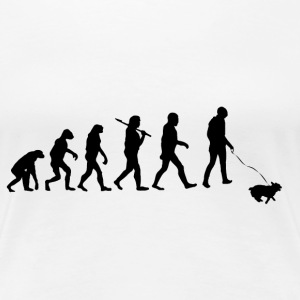 Evolution Hund T-Shirts - Frauen Premium T-Shirt