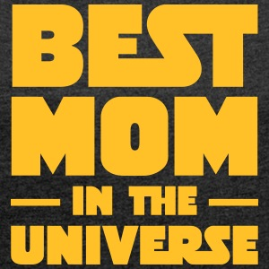 Best Mom In The Universe T-Shirts - Frauen T-Shirt mit gerollten Ärmeln