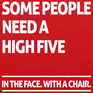 Some people need a high five (dark) Sacs et sacs à dos - Tote Bag