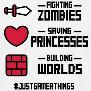 just gamer things T-Shirts - Men's Premium T-Shirt