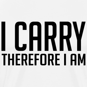 gamer shirt: I carry therefore i am T-shirts - Herre premium T-shirt