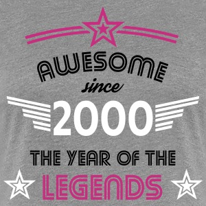 Awesome since 2000 T-Shirts - Frauen Premium T-Shirt