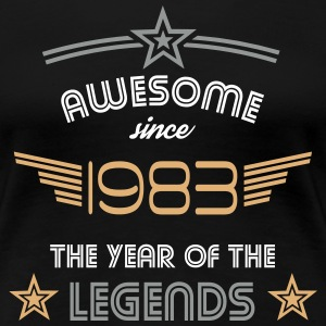 Awesome since 1983 T-Shirts - Frauen Premium T-Shirt