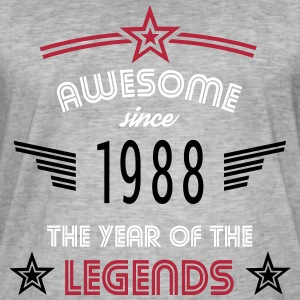 Awesome since 1988 T-Shirts - Männer Vintage T-Shirt