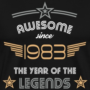 Awesome since 1983 T-Shirts - Männer Premium T-Shirt