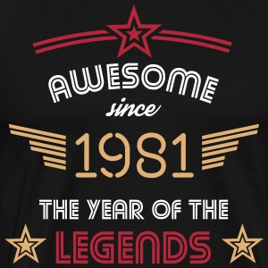 Awesome since 1981 T-Shirts - Männer Premium T-Shirt