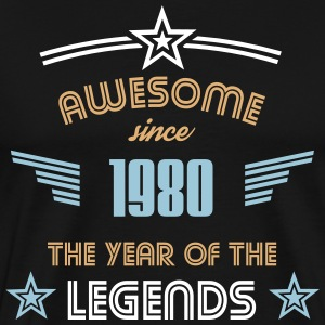 Awesome since 1980 T-Shirts - Männer Premium T-Shirt