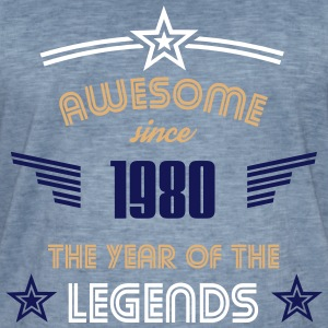 Awesome since 1980 T-Shirts - Männer Vintage T-Shirt