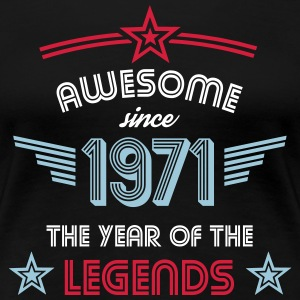 Awesome since 1971 T-Shirts - Frauen Premium T-Shirt