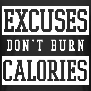 excuses don't burn calories T-Shirts - Männer Urban Longshirt