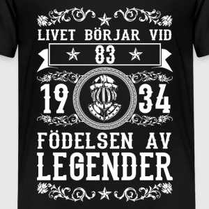 1934 - 83 ar - Legender - 2017 - SE Shirts - Teenage Premium T-Shirt