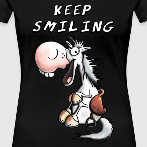 Keep Smiling Einhorn T-Shirts - Frauen Premium T-Shirt