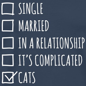 Single Married... Cats - Koszulka męska Premium