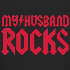 My husband rocks T-shirts - Ekologisk T-shirt dam